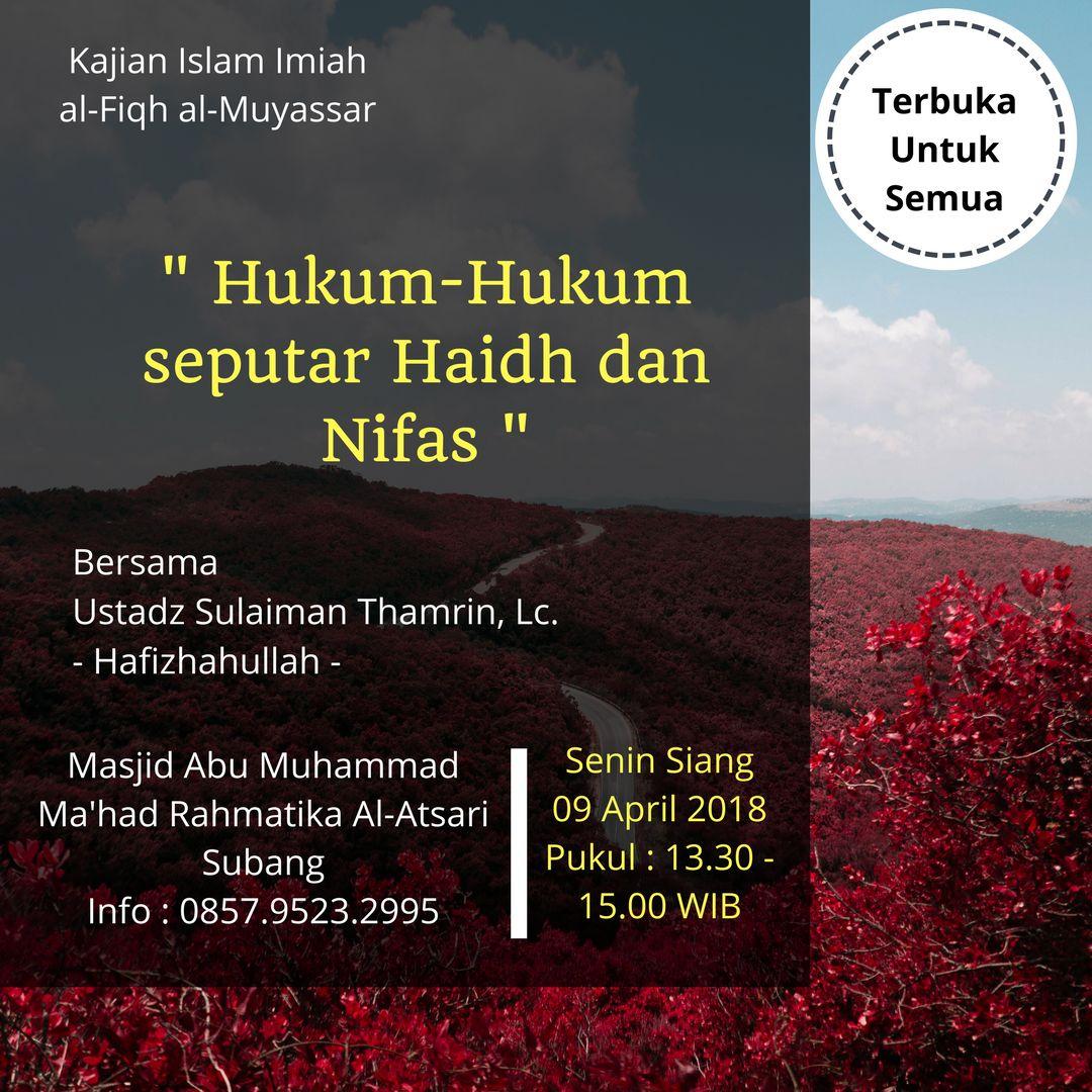 Kajian Islam Ilmiah Di Ma'had Rahmatika Al-Atsari Subang