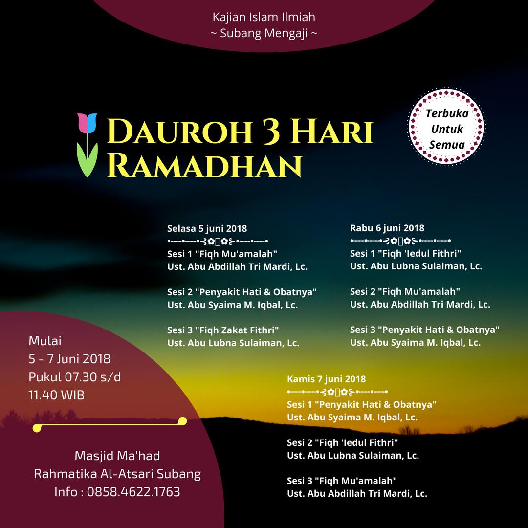 Dauroh Ramadhan Di Subang